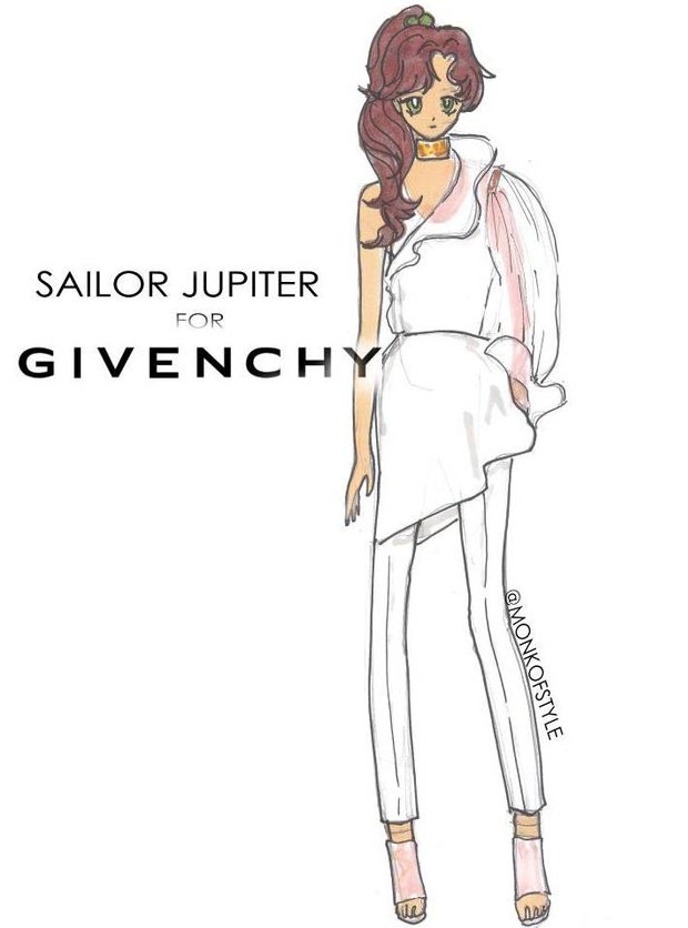 Sailor Jupiter wardrobe update Givenchy