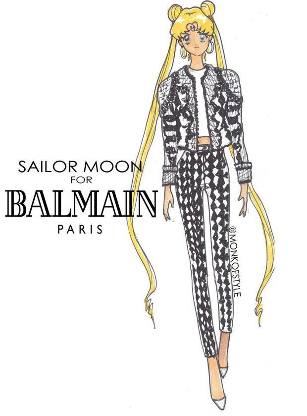 Sailor Moon wardrobe update Balmain