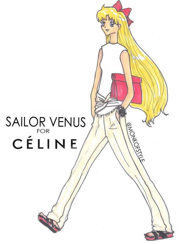 Sailor Venus outfit update Celine