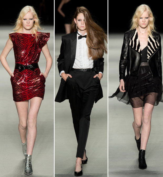 Saint Laurent Spring Summer 2014 repetitive fashion