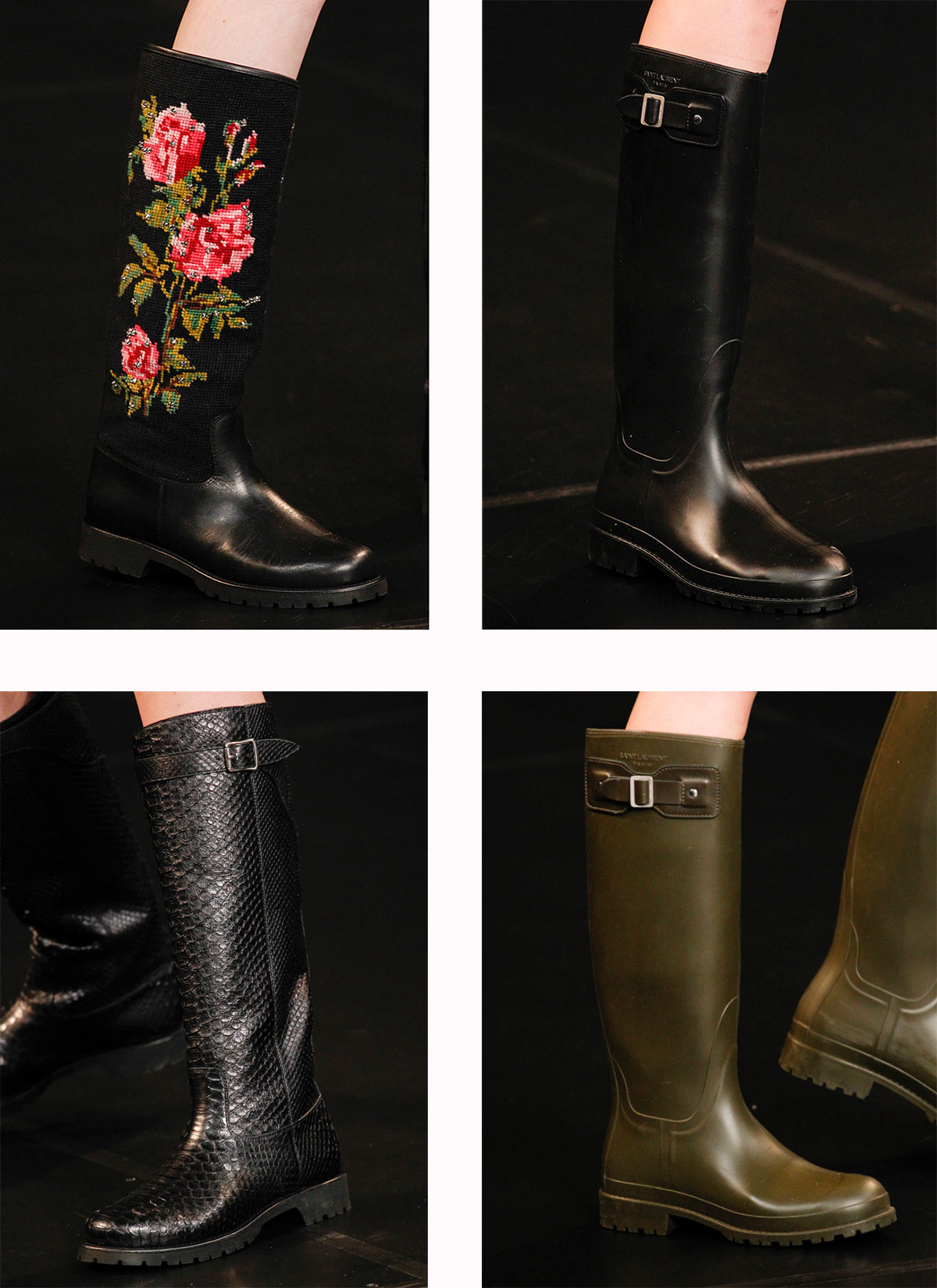 Saint Laurent Spring Summer 2016 rubber boots
