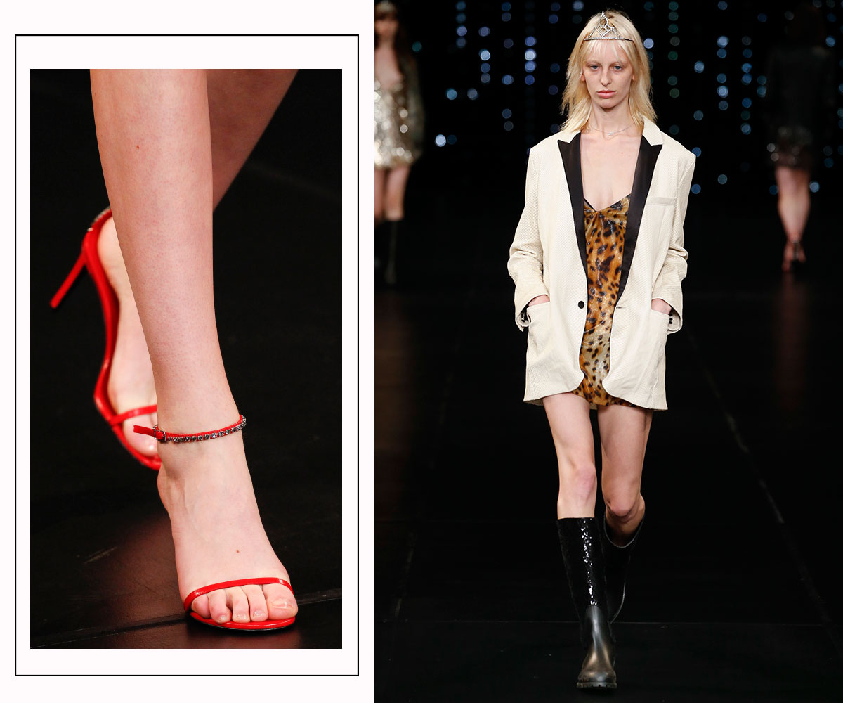 Saint Laurent SS sandals fashion show