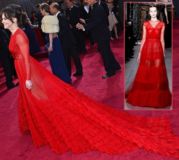 Fashion Fail Sally Field Valentino red dress 2013 Oscars