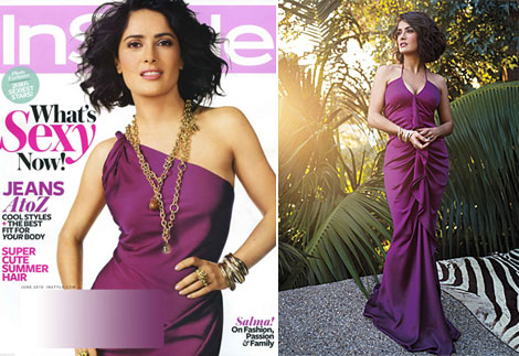 Salma Hayek InStyle June 2010 In McQueen