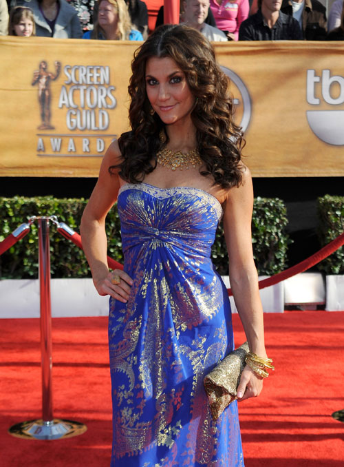 Samantha Harris blue dress SAG 2010 1