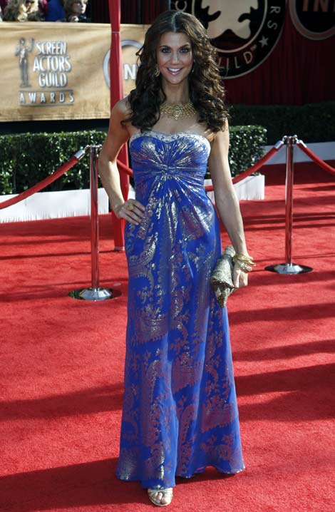 Samantha Harris blue dress SAG 2010