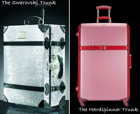 Samsonite Black Label Trunk with Swarovski crystals vs Hardspinner Trunk