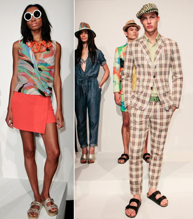 Vagabond Sandals On The Catwalk: Trina Turk Spring 2014 Collection