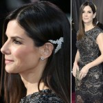 Sandra Bullock 2013 Oscars hair jewelry