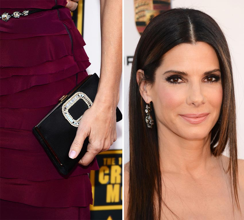 Sandra Bullock accessories 2014 Critics Choice Awards