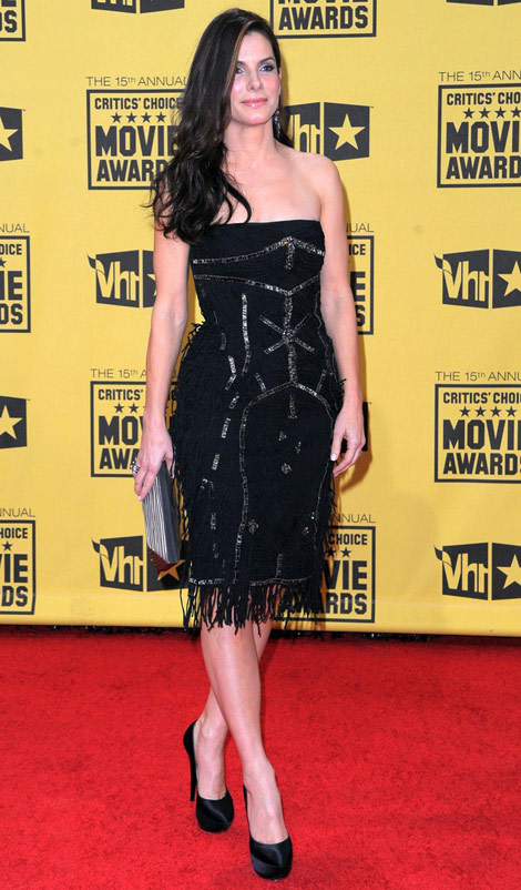 Sandra Bullock Alberta Ferretti Dress Critics Choice Awards 2010