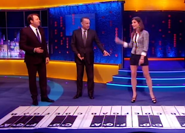 Sandra Bullock dancing in high heels Tom Hanks