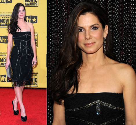 Sandra Bullock Ferretti Dress Critics Choice Awards 2010