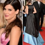 Sandra Bullock Golden Globes Red Carpet dress