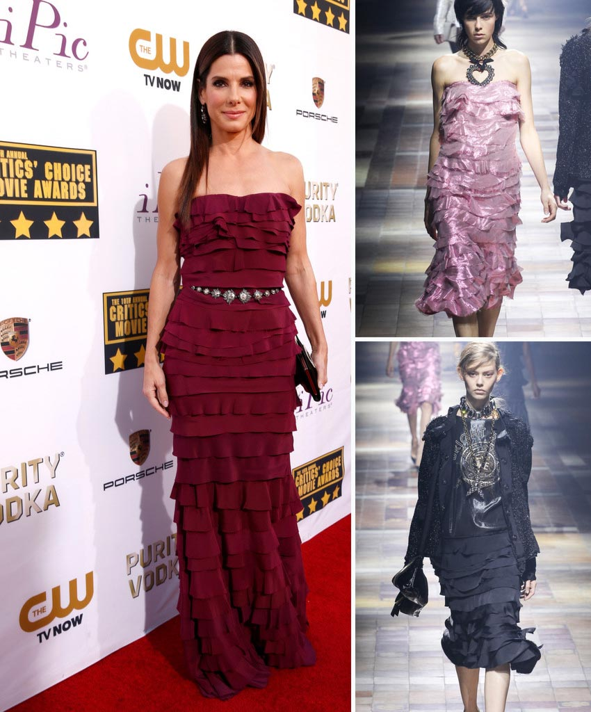 Sandra Bullock Lanvin custom made dress Critics Choice Awards