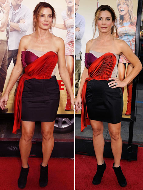 Sandra Bullock Lanvin dress movie premiere