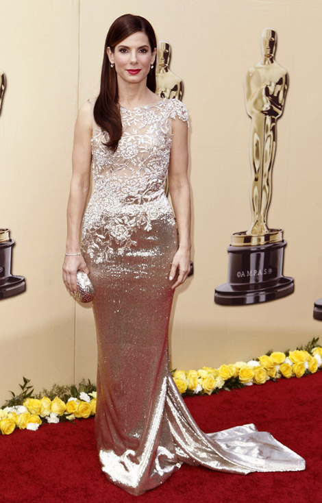 Sandra Bullock Marchesa dress 2010 Oscars