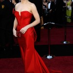 Sandra Bullock red Vera Wang dress 2011 Oscars 3