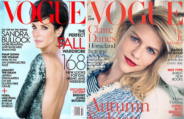 Sandra Bullock Vogue US Claire Danes Vogue UK similar covers
