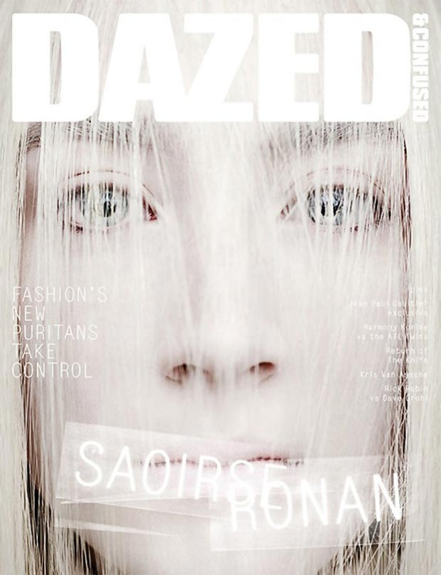 Saoirse Ronan Dazed and Confused April 2013 cover
