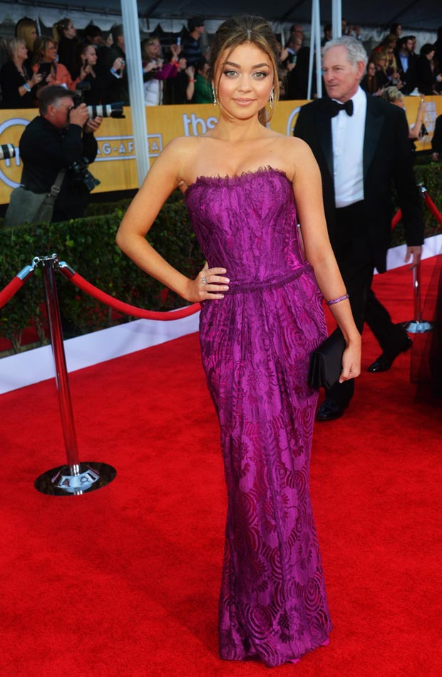 Sarah Hyland Dolce purple dress 2013 SAG Awards
