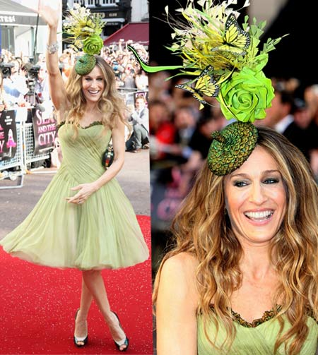 Sarah Jessica Parker In Alexander McQueen At Sex And The City The Movie London Premiere