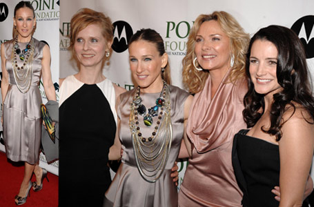 Sarah Jessica Parker and the SATC girls at Point Foundation Benefit