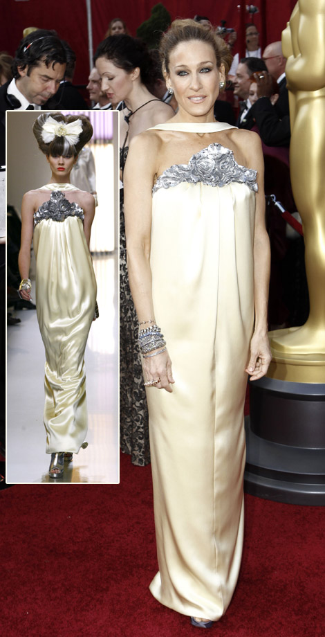 Sarah Jessica Parker In Chanel Couture Dress For The 2010 Oscars