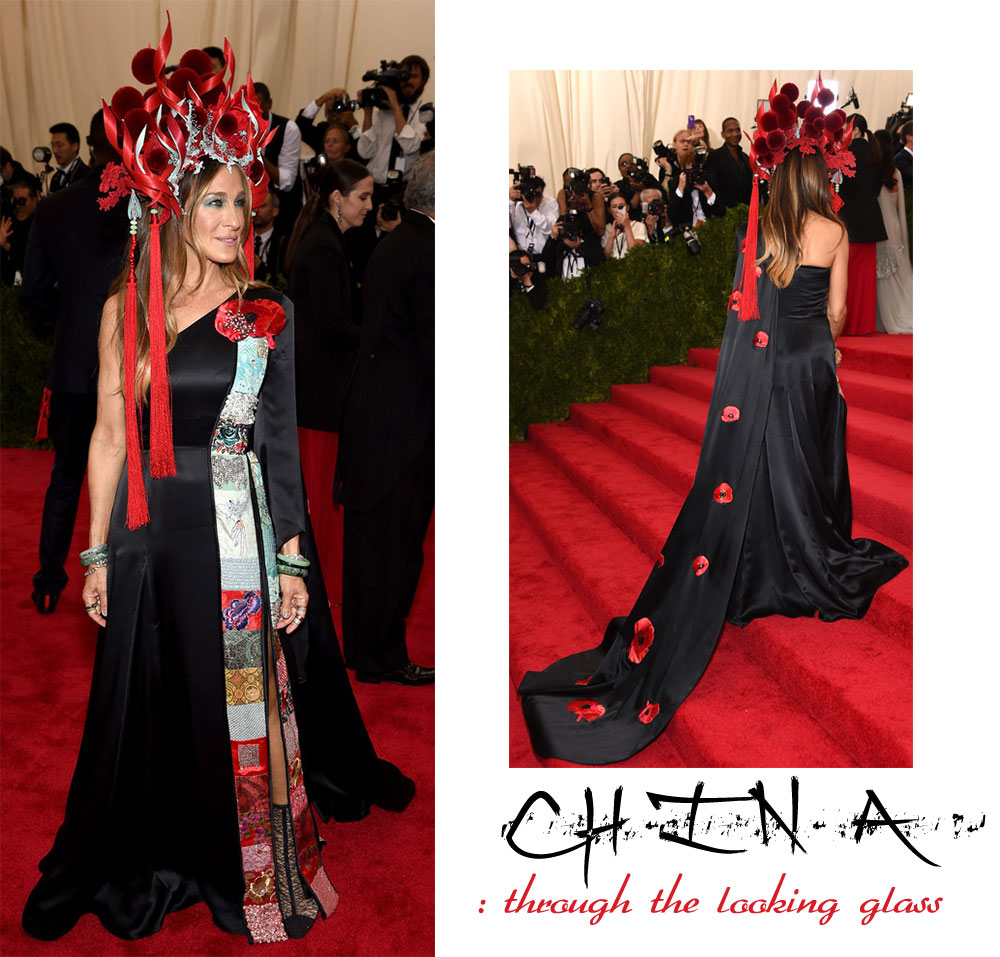 Sarah Jessica Parker dress Met Gala 2015 Philip Treacy hat