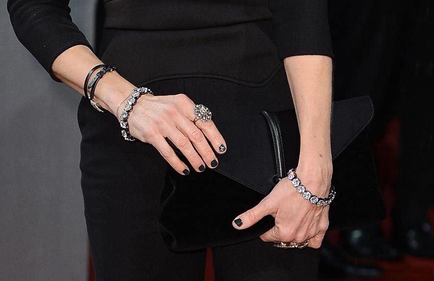 Sarah Jessica Parker jewelry nails clutch 2013 BAFTA