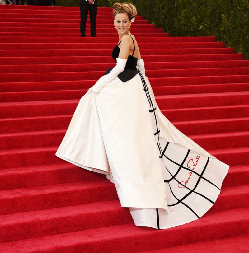 2014 Met Gala Fashion Sarah Jessica Parker Black And