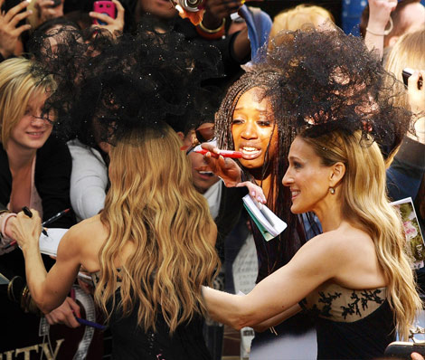 Sarah Jessica Parker Philip Treacy hat SATC2 premiere London