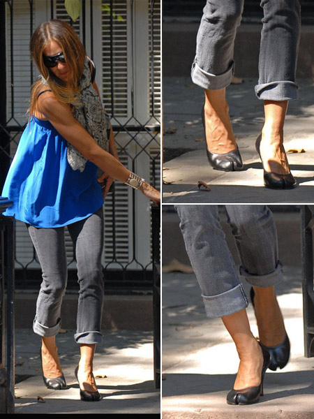 Sarah Jessica Parker Split toed shoes