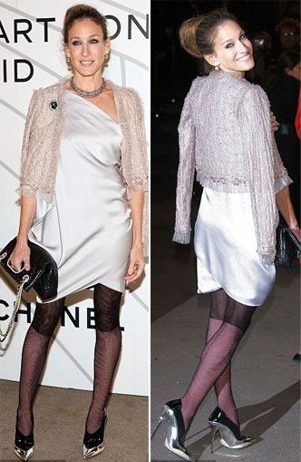 Sarah Jessica Parker Loves The Chanel Two Toned Tights!