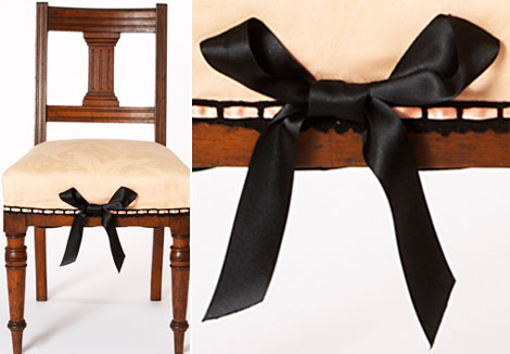 Sarah Louise Dix Couture bow chair