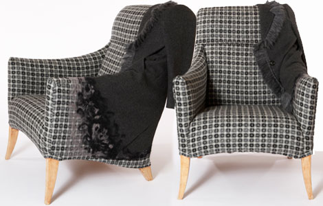 Sarah Louise Dix Couture ball coat chair
