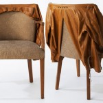 Sarah Louise Dix Couture leather coat chair