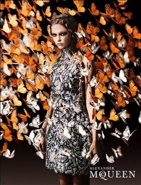 Alexander McQueen Spring Summer 2011, Lindsey Wixson And The Butterflies
