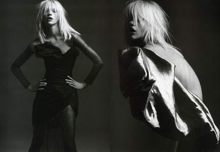 Sasha Pivovarova Pictures by Hedi Slimane from French Vogue April 2008 Issue
