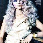 Sasha Pivovarova grey hair