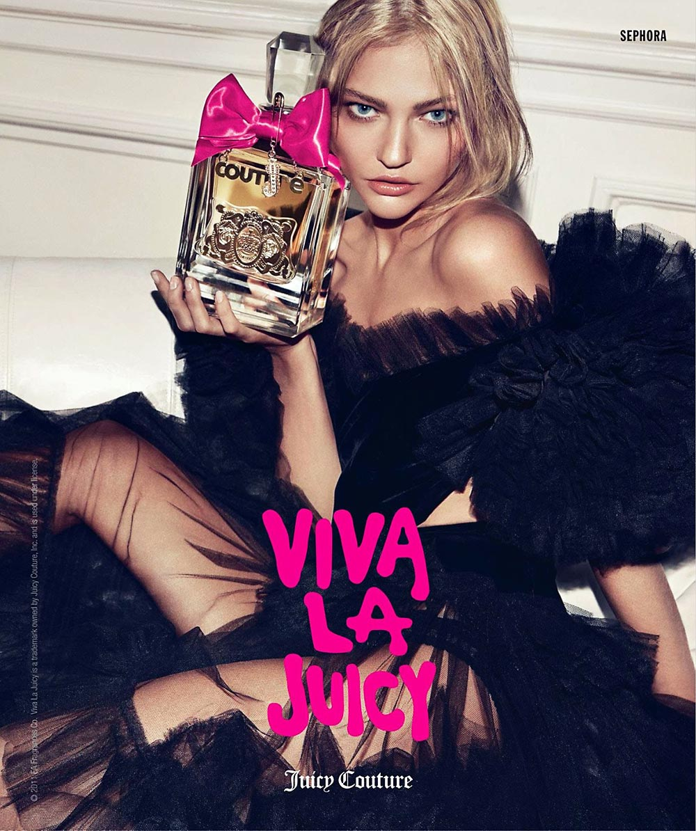 Sasha Pivovarova Juicy Viva la Juicy perfume advertising campaign