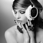 Sasha Pivovarova Maison Michel earmuffs