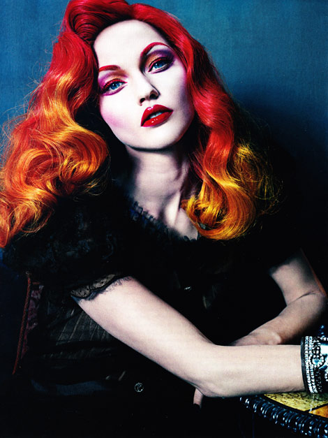Sasha Pivovarova red hair