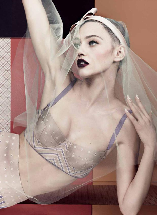 Sasha Pivovarova Seduction pictorial Interview magazine