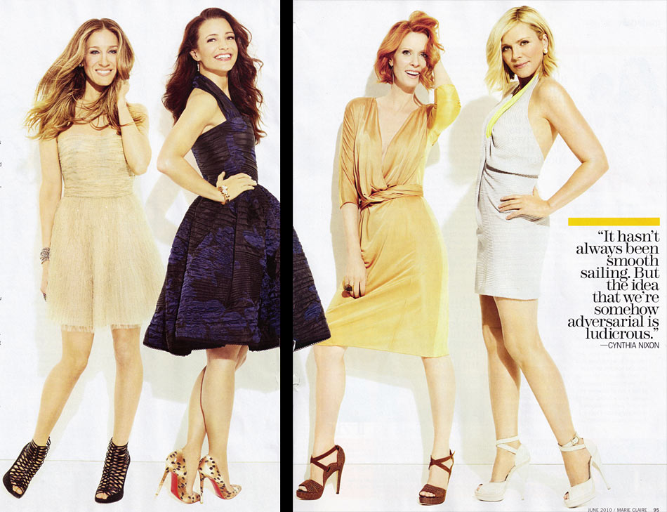 Sarah Jessica Parker And The SATC Girls Do Marie Claire June 2010