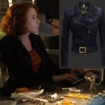 Scarlett Johansson Black Widow Natasha Romanoff Avengers Ultron leather jacket