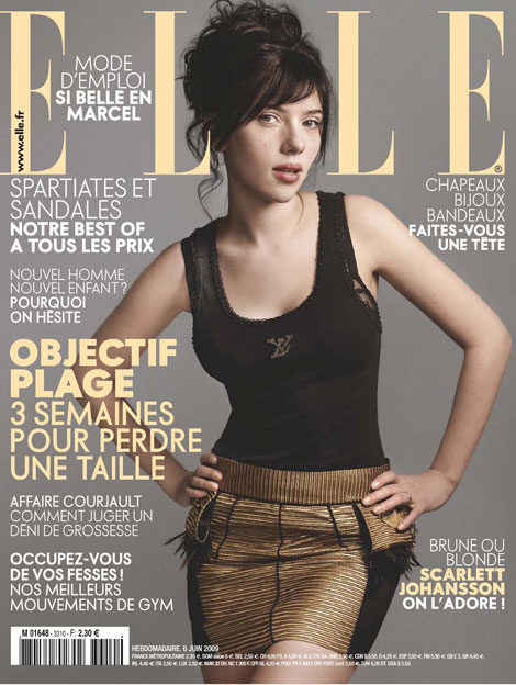 Scarlett Johansson Elle France June 2009 cover
