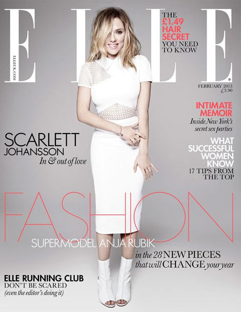 Scarlett Johnasson Elle UK February 2013 cover