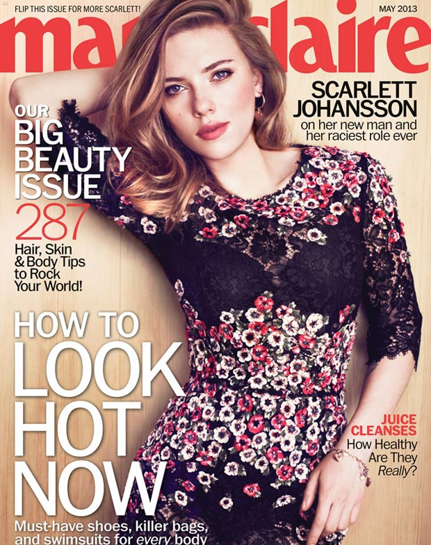 Scarlett Johansson: From The Black Widow To Marie Claire May 2013