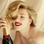 Scarlett Johansson Moet and Chandon champagne 2011 ad campaign